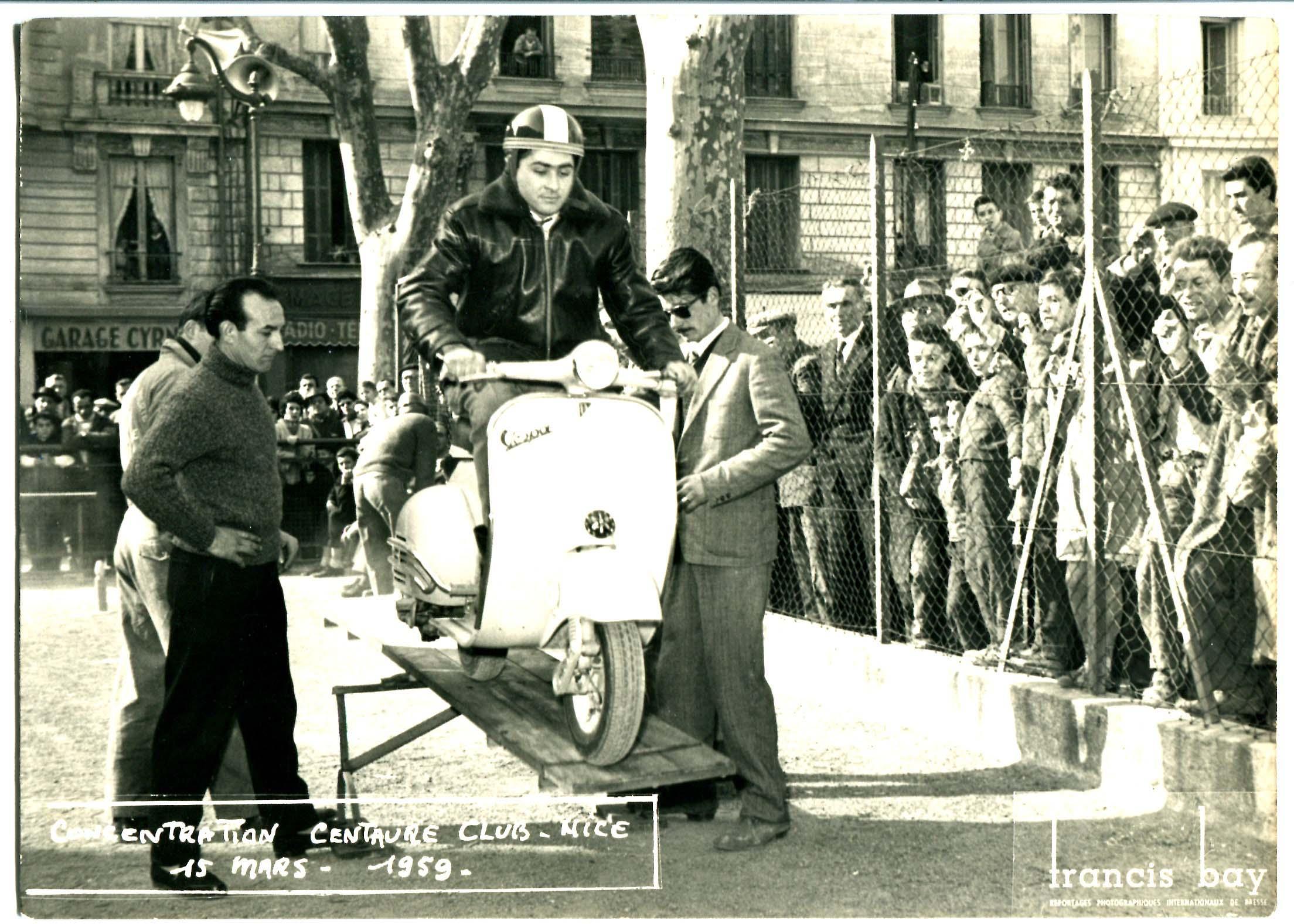 15 Marzo 1959: Grasse (F) - Luciano Cassini partecipa al raduno organizzato dal