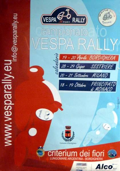 19-20/04/2008 - BORDIGHERA - Camp. Europeo Vespa Rally ''Criterium dei Fiori''